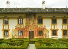 Traditionally painted Bavarian house Royalty Free Stock Photos