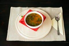 Traditionally romanian Soup Stock Photos