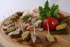 Traditionally Russian and Ukrainian snacks. royalty free stock photos