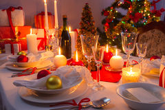 Traditionally table for Christmas Eve Stock Image