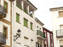 Traditionals buildings on jewish neighborhood in Hervas, Spain Royalty Free Stock Image