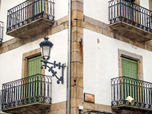 Traditionals buildings on jewish neighborhood in Hervas, Spain Stock Photo
