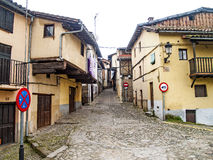 Traditionals buildings on jewish neighborhood in Hervas, Spain Royalty Free Stock Images