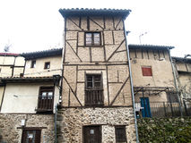 Traditionals buildings on jewish neighborhood in Hervas, Spain Royalty Free Stock Photos