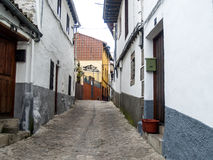 Traditionals buildings on jewish neighborhood in Hervas, Spain Stock Photos