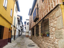 Traditionals buildings on jewish neighborhood in Hervas, Spain Stock Photography