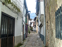 Traditionals buildings on jewish neighborhood in Hervas, Spain Royalty Free Stock Photo