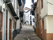 Traditionals buildings on jewish neighborhood in Hervas, Spain Stock Images