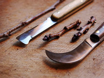 Traditionals grafting knives Stock Image