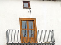 Traditionals window and balcony on jewish neighborhood in Hervas, Spain Royalty Free Stock Photography