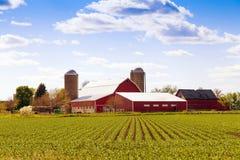 Traditioneel Amerikaans Landbouwbedrijf Royalty-vrije Stock Afbeelding