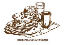 Traditioneel Amerikaans ontbijt royalty-vrije stock afbeelding