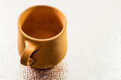 Traditioneel Arabisch Clay Cup Royalty-vrije Stock Afbeelding