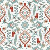 Traditioneel Arabisch naadloos ornament Bloemen SierPatroon Iznik Vector Achtergrond vector illustratie