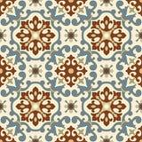 Traditioneel Arabisch ornament naadloos voor uw ontwerp Desktopbehang Achtergrond Iznik royalty-vrije illustratie
