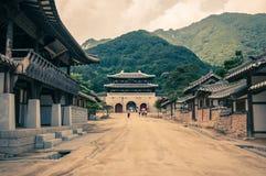 Traditioneel Aziatisch Dorp Stock Foto's