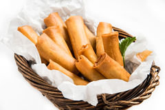 Traditioneel Aziatisch Fried Spring Rolls Royalty-vrije Stock Foto
