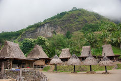 Traditioneel Bena-dorp op Flores Royalty-vrije Stock Foto