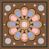 Traditioneel bloemenornament met hart royalty-vrije stock fotografie