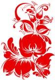 Traditioneel bloemenpatroon royalty-vrije illustratie