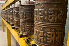 Traditioneel boeddhismemantra wiel Royalty-vrije Stock Foto