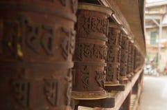 Traditioneel boeddhismemantra wiel Stock Fotografie