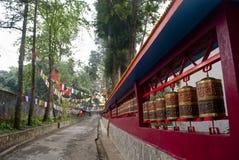 Traditioneel boeddhismemantra wiel Stock Foto