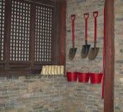 Traditioneel brandpreventiesysteem stock afbeelding