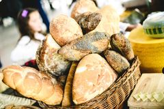 Traditioneel brood in rijs royalty-vrije stock foto