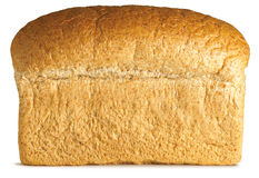 Traditioneel brood van graanschuur bruin brood op een wit Stock Fotografie