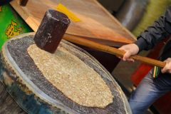 Traditioneel Chinees amandelsuikergoed Stock Foto's
