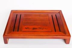 Traditioneel Chinees groot houten theedienblad teaberries Royalty-vrije Stock Foto's