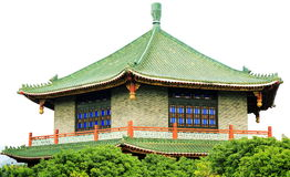 Traditioneel Chinees huis in oude Chinese tuin, de Aziatische klassieke bouw van het oosten in China Stock Afbeeldingen