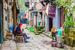 Traditioneel Chinees huisvestingsgebied Stock Foto's