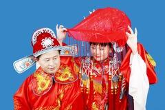 Traditioneel Chinees Huwelijk Royalty-vrije Stock Afbeeldingen