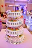 Traditioneel Chinees huwelijk - cake Royalty-vrije Stock Foto's