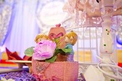 Traditioneel Chinees huwelijk - stuk speelgoed minnaars Stock Foto's