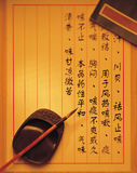 Traditioneel Chinees medisch voorschrift Stock Afbeeldingen
