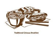 Traditioneel Chinees ontbijt royalty-vrije stock afbeelding