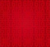 Traditioneel Chinees patroon - Geluk en Gelukkig Stock Afbeelding