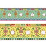 Traditioneel Chinees Vaatwerk Naadloos Patroon Royalty-vrije Stock Afbeeldingen