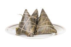 Traditioneel Chinees voedsel - rijstbollen Stock Afbeelding