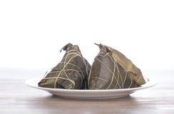 Traditioneel Chinees voedsel - rijstbollen Stock Afbeeldingen