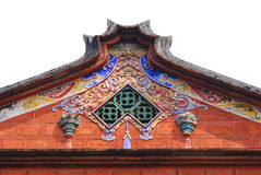 Traditioneel dak en kleurrijke decoratie. royalty-vrije stock fotografie