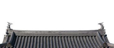 Traditioneel dak van de oude Japanse bouw royalty-vrije stock afbeeldingen