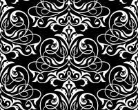Traditioneel damast naadloos patroon Stock Foto's