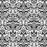 Traditioneel damast naadloos patroon Royalty-vrije Stock Afbeeldingen