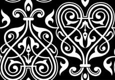 Traditioneel damast naadloos patroon Stock Afbeeldingen