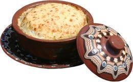 Traditioneel die voedsel in plaat wordt gediend Royalty-vrije Stock Foto's