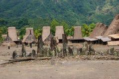 Traditioneel dorp Bena op Flores-Eiland Stock Foto's